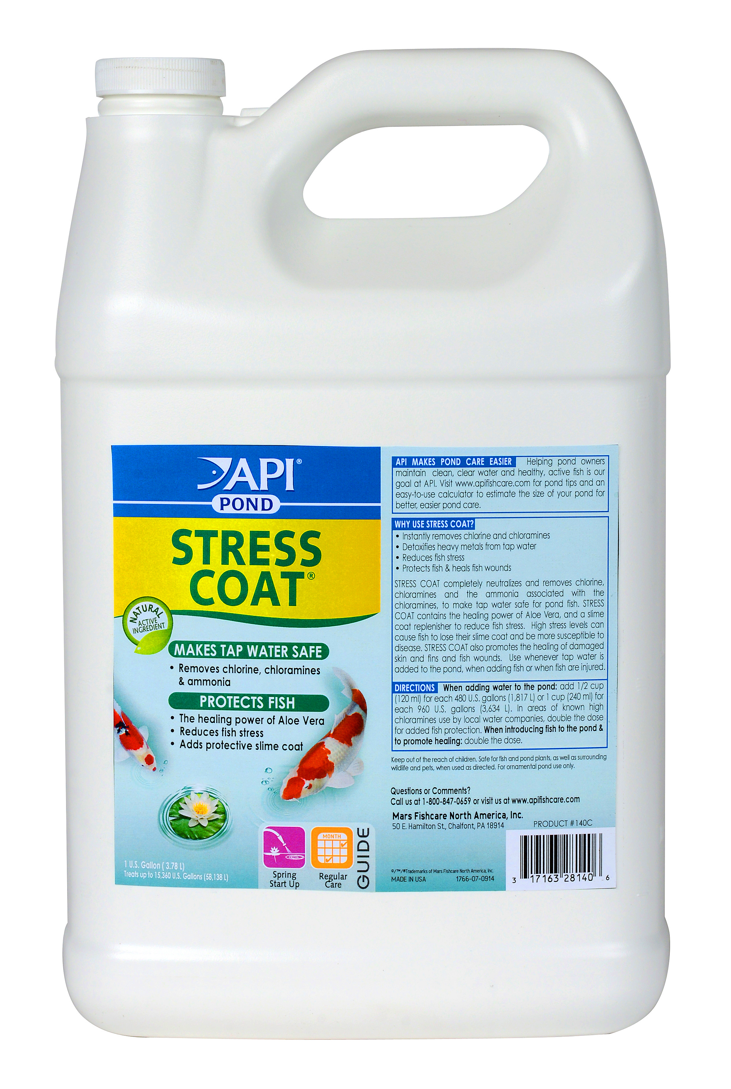 Pond Care Stress Coat Removes Chlorine / Protects Fish 1 ...