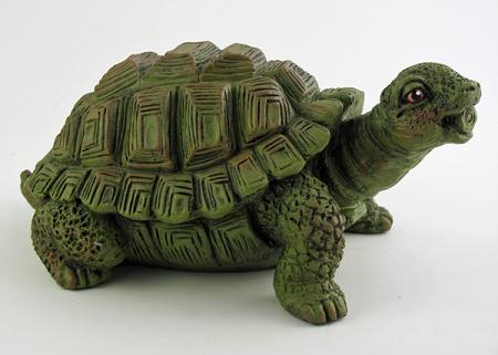 Clever Turtle Fountain Ornament