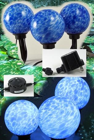 LED Lights Floating/Landscape Lighting 3pack w/transformer