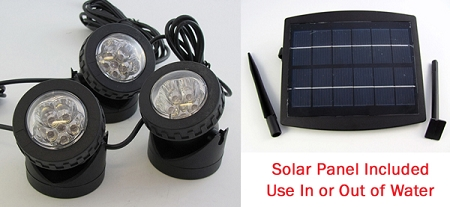 Rena OEM Solar LED Light 3pack w/Solar Panel Pond/Fountai...