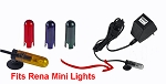 Color bulb covers Set of 4 (R,G,B,Y) orginal Rena Mini-Light ML9VRP