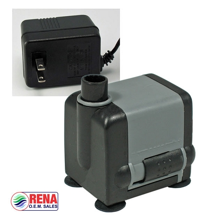Rena OEM Low Voltage water pump (12v AC w/transformer)105 gh