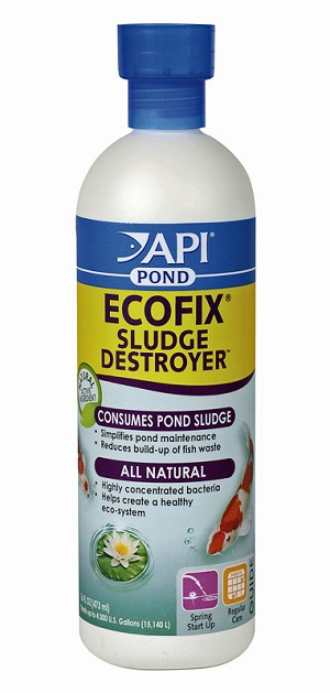 Pond Care Eco-Fix Biological Sludge Destroyer 16oz treats 4000 gal Clear Pond
