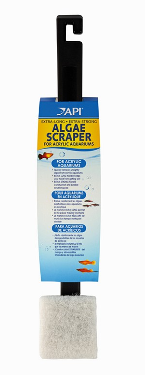 "API Algae Scraper with 18"" Long Handle for Acrylic Aquariums"