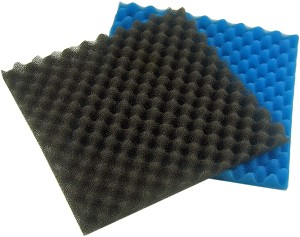 "Filter Pads 12""L x 12"" W Cut to Fit for many aquarium & pond filters 1ea Fine/Coarse"