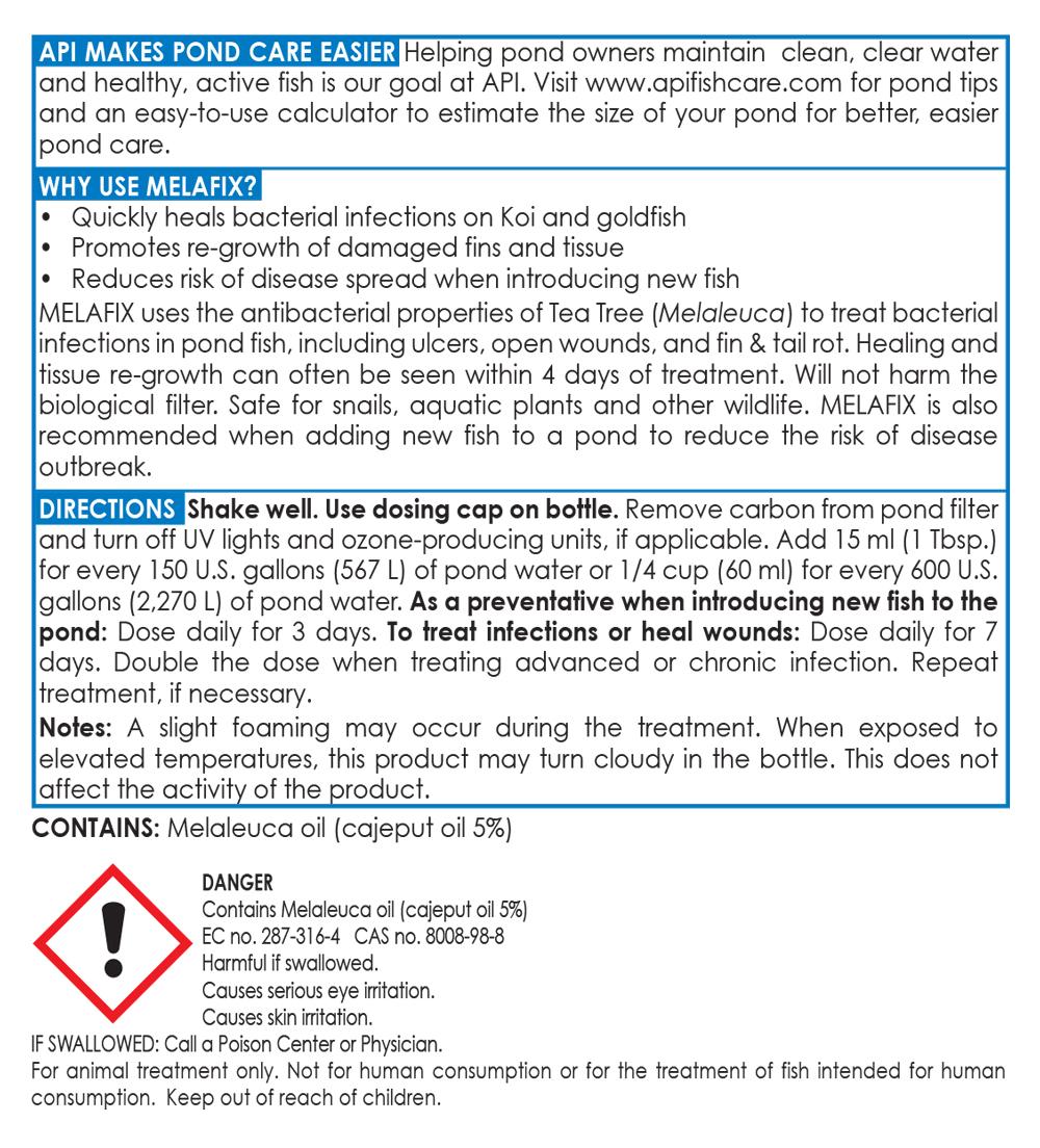 Melafix Natural Antibacterial Remedy for Koi & Goldfish 16oz treats 4800gal