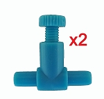 Airline Tubing Valve (x2) Controls Flow in standard airline tubing