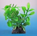 Bacopa Faux Aquarium Plant 6 in w/weighted decorative base
