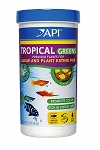 API Tropical Greens Flake Food 2.1oz Canister Ideal for plant eating fish Discus/Cichlids