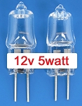 Mini-Light Halogen Bulbs 12v 5w 2 pack
