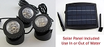 Rena OEM Solar LED Light 3pack w/Solar Panel Pond/Fountain/Landscape
