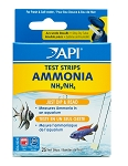 API Ammonia Test Strips 25 tests measures 0-6 ppm protective tube