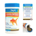 API Goldfish Pellet Food 7oz Canister Special Formula Optimal Protein Less Fish Waste