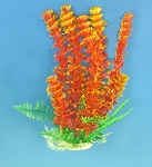 Cabomba 6 in Tall Faux Aquarium Plant Red/Orange Recommended Background Plant