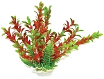 Rotala Faux Aquarium Plant 12in Green/Red Medium Size