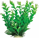 Leafy Faux Aquarium Plant 6in Green/Dark Green Recommended Background Plant