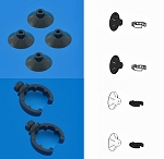 Filstar XP Suction Cups (K) /Clips (L) (4/2 each) Original version for Rena/API