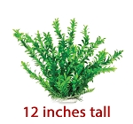 Anacharis Faux Aquarium Plant 12in Green/Leafy Recommended Background Plant
