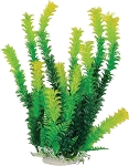 Bushy Faux Aquarium Plant 12in Green/Yellow Recommended Background Plant