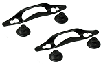 Hanging Bracket w/suction cups (2pk) for Aquarium Heaters & Tubing