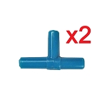 T Airline Tubing Connector (x2) Blue