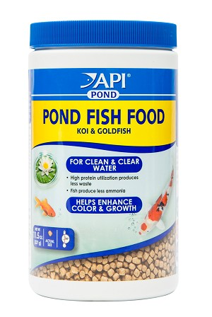 API Pond Fish Food 11.5oz Pellet for Koi & Goldfish Less Waste Clearer Water
