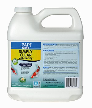 Pond Care Simply Clear Barley & Baterial Pond Clarifier 64oz, treats 16000 gal all natural water clarifier
