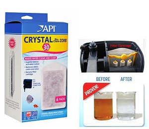 API Crystal Bio-Chem Zorb 30, 6pack Fits API Superclean 30