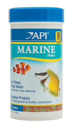 API Marine Flake Fish Food 2.1 oz for marine fish, Clownfish, Wrasses & Tangs