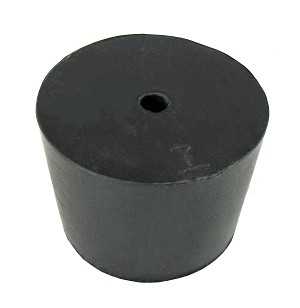 Rubber Stopper w/Center Hole
