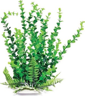 Elodea Faux Aquarium Plant 16in Green/Dark Green Recommended Background Plant