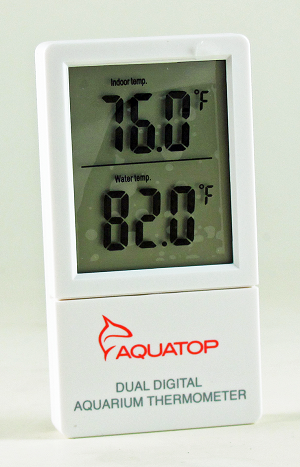 Dual Temp External Digital Thermometer Room & Inside Aquarium Fits All Sizes NEW