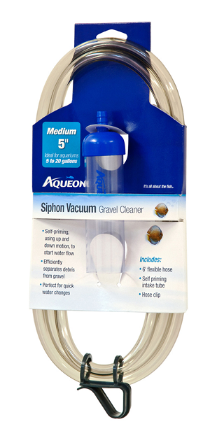 "Gravel Vacuum w/Auto Start Med Diamerter 5"" Length for Small/Shallow Tanks"