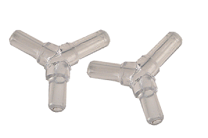 Y Airline Tubing Connector (x2) Clear