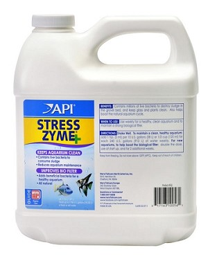API StressZyme Biological Filter Booster 64oz treats 3786 gal by Mars Fishcare