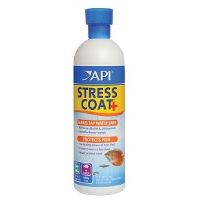 API Stress Coat 16oz treats 960 gal protects fish, removes chlorine, Conditions Water