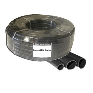 Black vinyl tubing 1' ID, 20 ft roll for Large Commercial Applications Pnds/Ftns