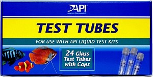 Replacement Glass Test Tubes w/Cap (24 ea) use with all API Test Kits 5 ml measurement line